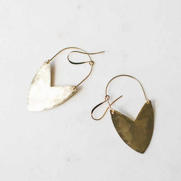 Tulip Shield Earring - Large