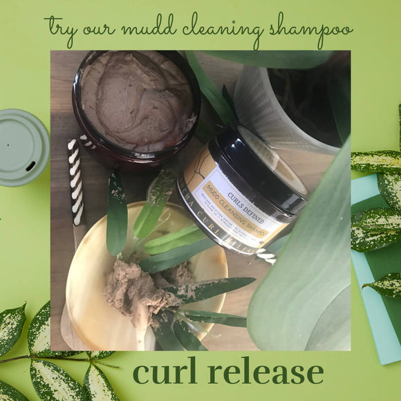 CURL RELEASE Mudd cleansing hair wash.(define each curl from your wash)