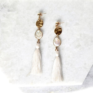 Azulik Long Tassel Earrings