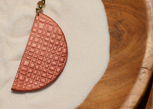 Semi Circle Red Gold Clay
