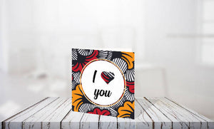 Afrocentric greeting cards - Ankara collection
