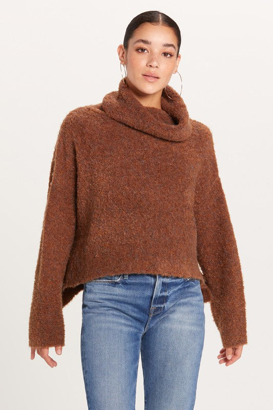 chocolate boucle knit
