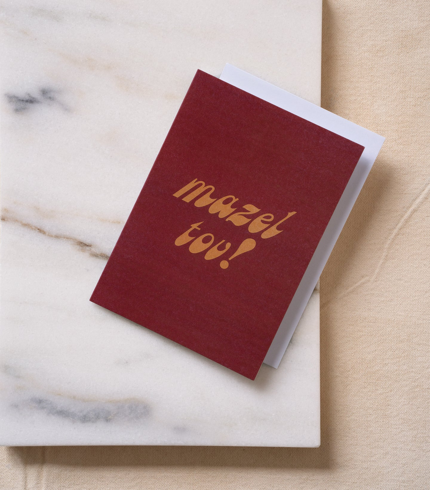 Load image into Gallery viewer, Mazel tov! greeting card with white envelope