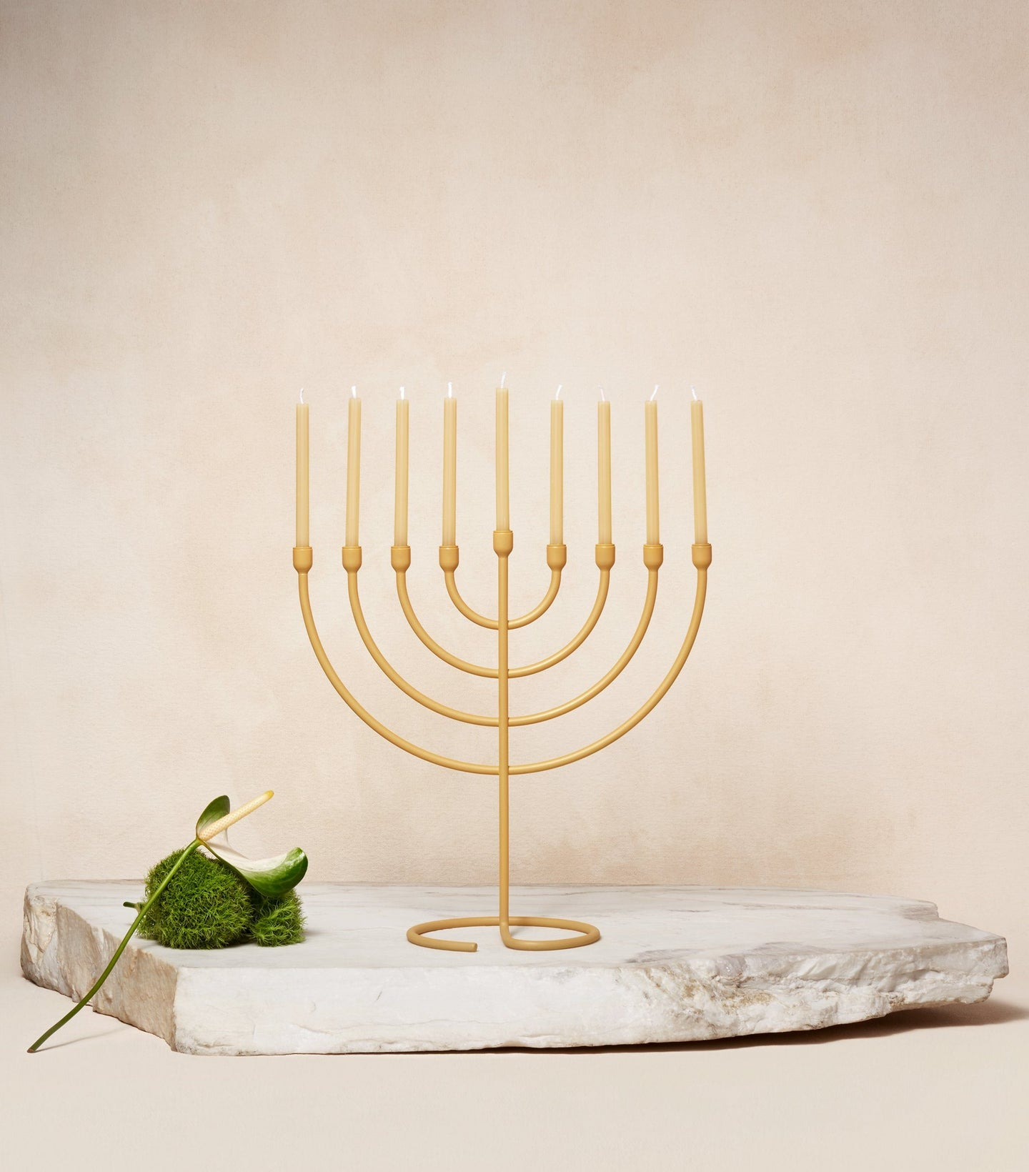 Load image into Gallery viewer,  Chanukah Candles in Sand with Chanukiah Via Maris