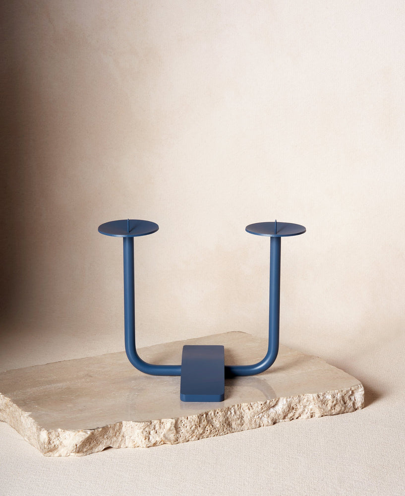 Rest Candleholder in Midnight Blue