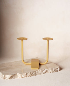 Rest Candleholder in Sand Yellow