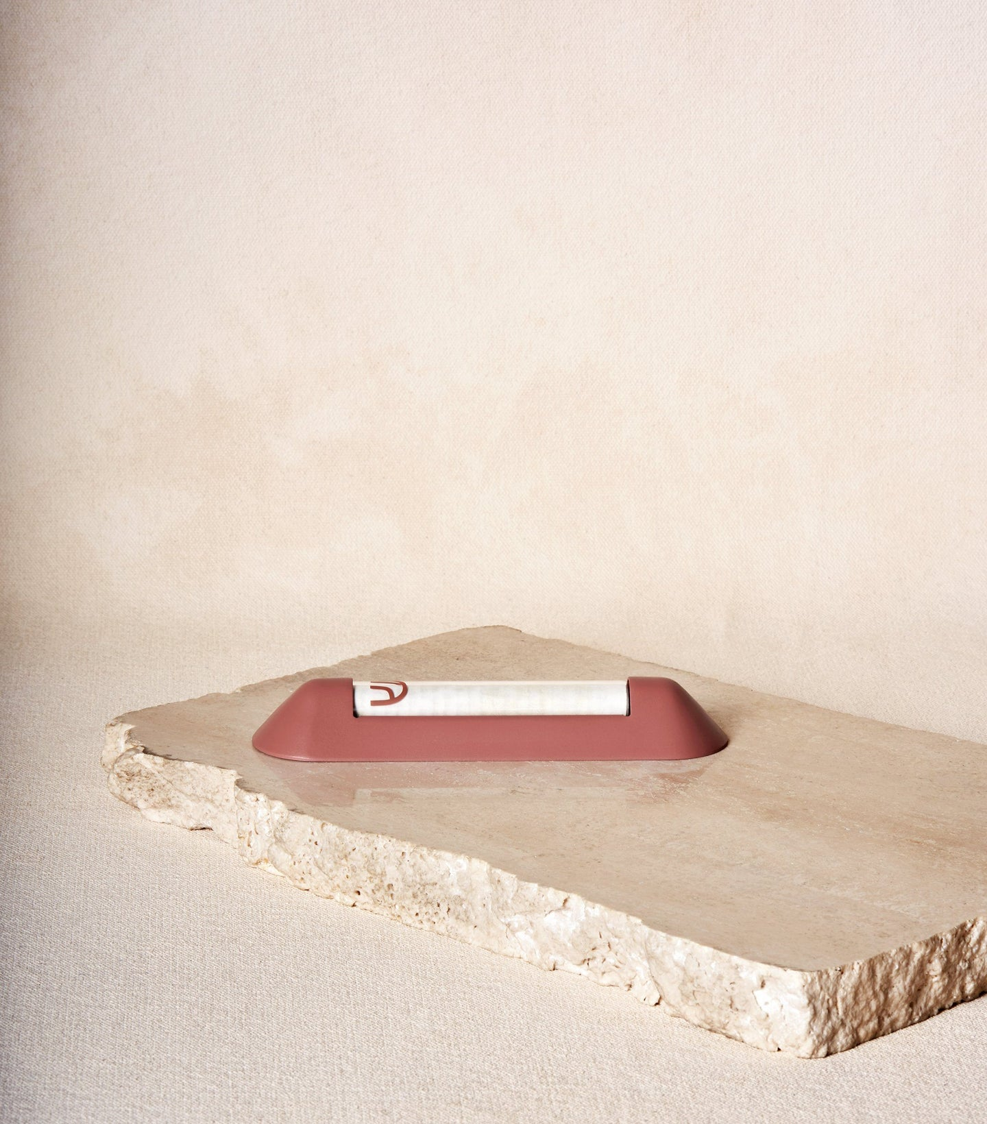 Load image into Gallery viewer, Shelter Mezuzah in Clay Red side view