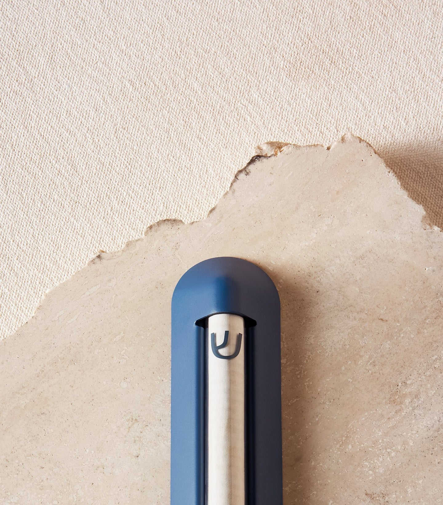 Load image into Gallery viewer, Shelter Mezuzah in Midnight blue close up