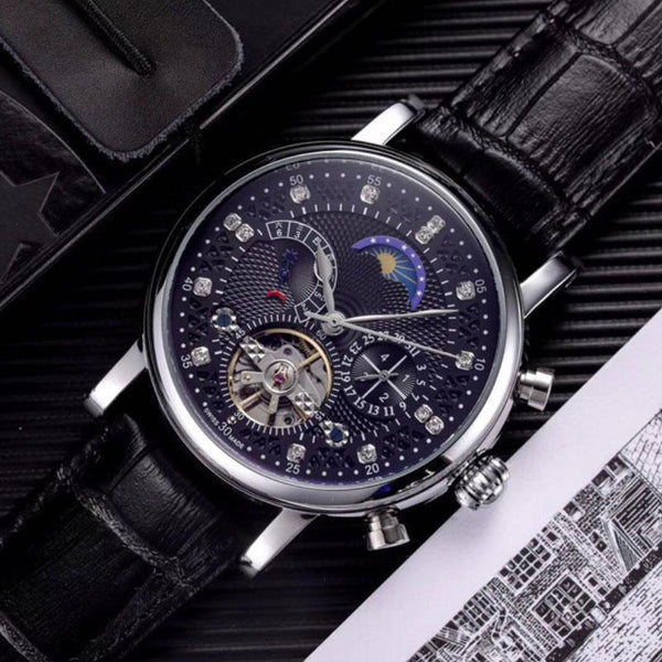 Wristwatch Tourbillon Mechanical Steel Watch Relogio Masculino