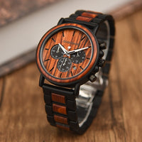 wooden quartz wristwatch Gift Wood Carved Super Watch