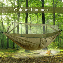 Load image into Gallery viewer, Camping Hammock Kit With Mosquito Net + Rain Fly Tarp Cover Kit