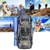 60L Hiking Backpack, Lightweight Waterproof Camping Trekking Touring