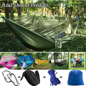Camping Hammock Kit With Mosquito Net + Rain Fly Tarp Cover Kit