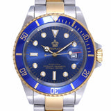 Reginald Watch Men Rotatable Bezel Sapphire Glass Stainless Steel
