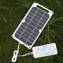 Load image into Gallery viewer, Waterproof 5V USB Solar Power Panel Outdoor Travel Solar 10W