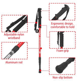 Portable Hiking Trekking Poles Walking Stick Adjustable