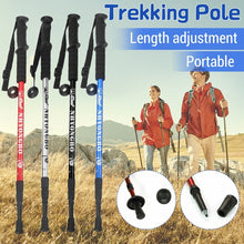 Load image into Gallery viewer, Portable Hiking Trekking Poles Walking Stick Adjustable