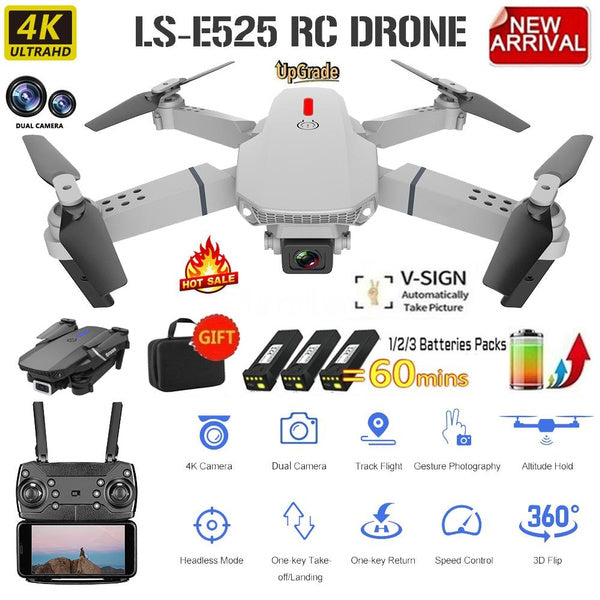 RC Drone with Camera 4K HD High Altitude Pro Wifi Tech Gear