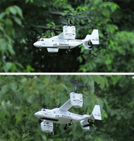 RC war chopper aircraft ready to fly plane helicopter