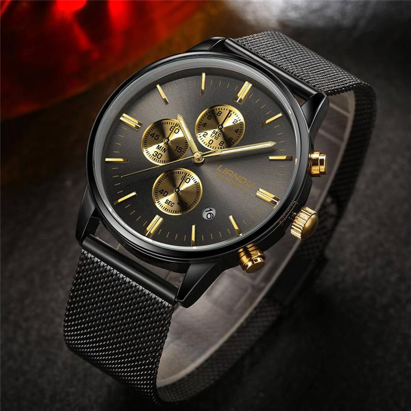 LIANDU Watches Chronograph Luminous Quartz Watch wristwatch