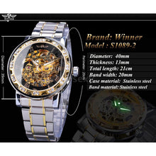 Load image into Gallery viewer, Winner Transparent Fashion Diamond Display Luminous Glow Watch