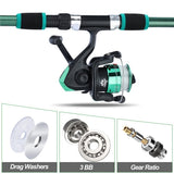 Fishing pole combo set reel and rod plus bait and lure set