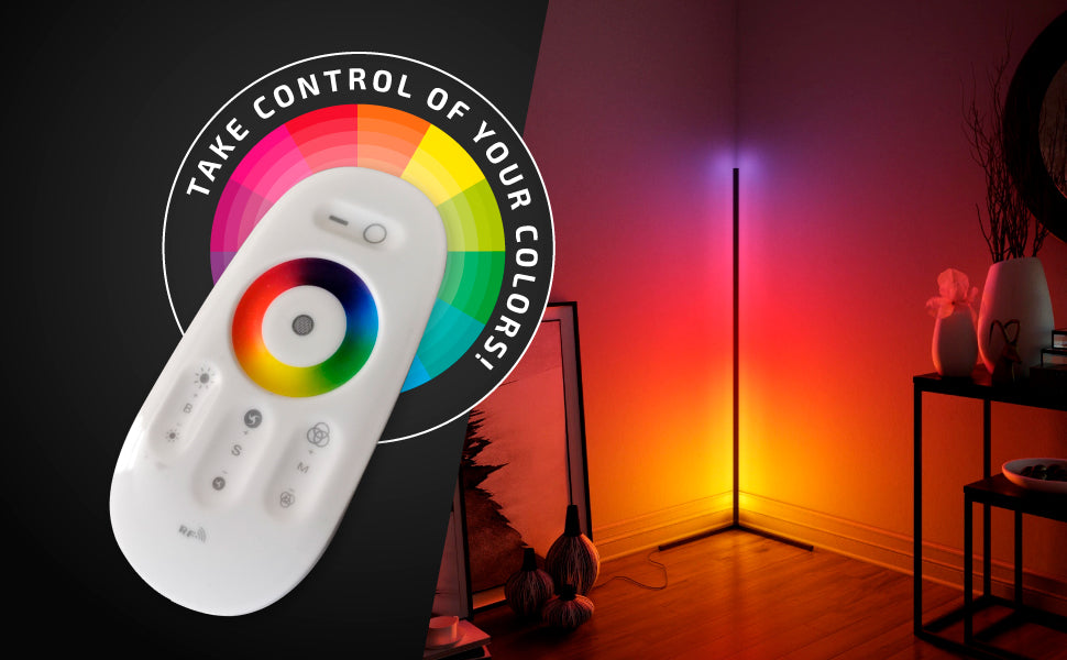 The packaging contains:1x floor lamp1x remote control