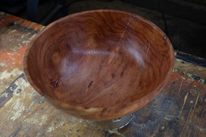 African Sumac Bowl With Silver Inlay