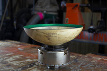 Load image into Gallery viewer, Cottonwood Bowl with Green Rim
