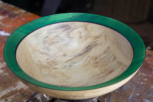 Cottonwood Bowl with Green Rim