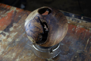 Indian Rosewood Hollow Form with Natural Voids