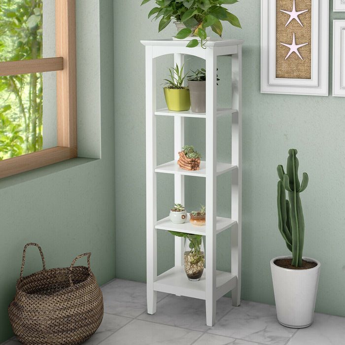 5-Tier Utility Shelves Storage Rack Multifunctional Freestanding Shelving Unit