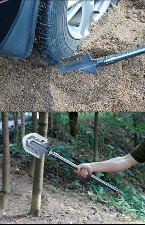 Portable Military Folding Shovel with Tactical Waist Pack & Multi-Tools  [ FREE SHIPPING ]