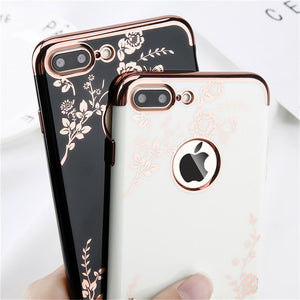 Plating Rose Gold Case for iPhone