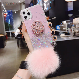 3D Diamond Holder Stand Case for iPhone