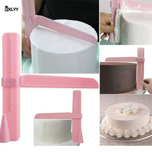 ADJUSTABLE HEIGHT CAKE SCRAPER ( 2pcs )  [ FREE SHIPPING ]