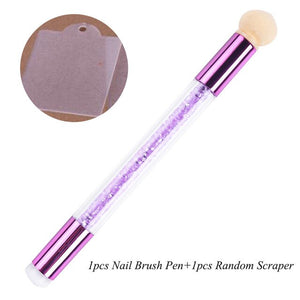 Dual-ended Nail Gradient Stamper Pen  [ FREE SHIPPING ]