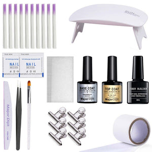 Nail Extension Fiberglass Kit With UV Lamp  [ FREE SHIPPING ]