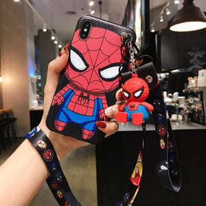 Stitch TPU Stand Holder Phone Strap Rope Case for iPhone