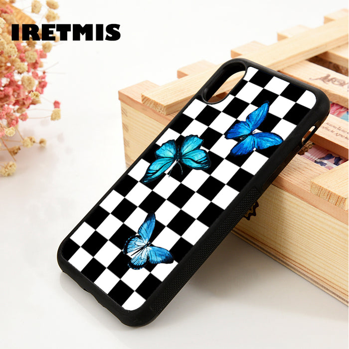 Blue Butterfly Checks Case for iPhone
