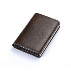 Leather RFID Secure Cash and Cards Wallet [ FREE SHIPPING ]