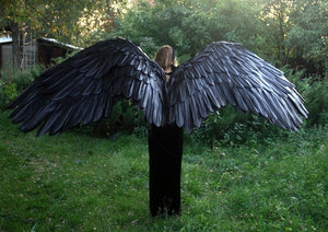 Halloween 3D Angel Devil Big Wings