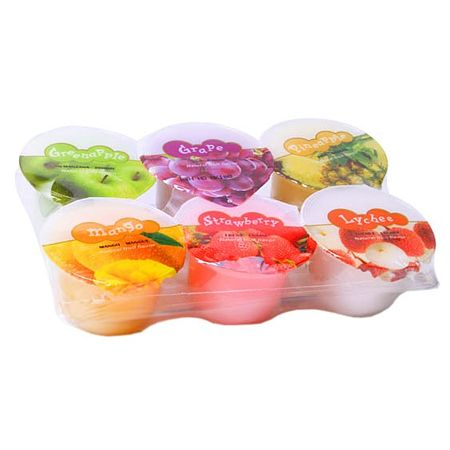 ABC Natural Fruit Assorted Jelly in a Cup - 6 Pack