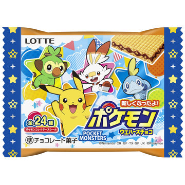 Lotte Pokemon Wafers Chocolate