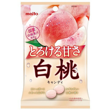 Meito White Peach Candy