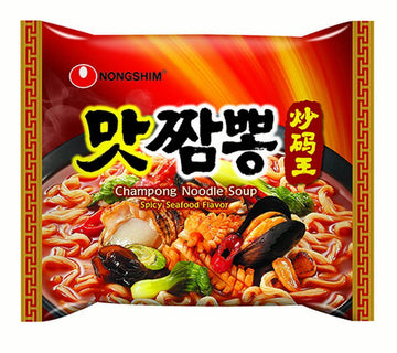 Nongshim Champong Spicy Seafood Flavored Ramen - Single