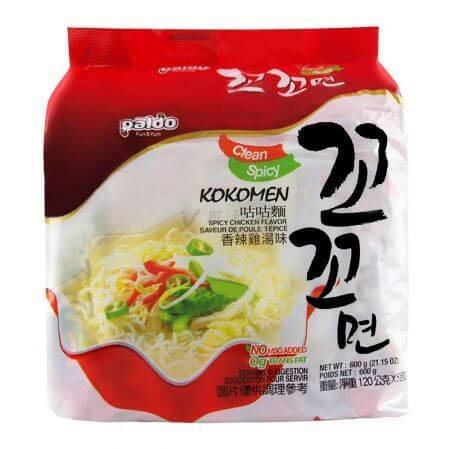 Paldo Kokomen Spicy Chicken Flavor Ramen - 5 Pack