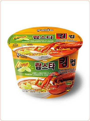 Paldo Lime Lobster Flavor King Noodle Ramen Bowl