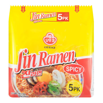 Ottogi Jin Ramen Spicy - 5 pack