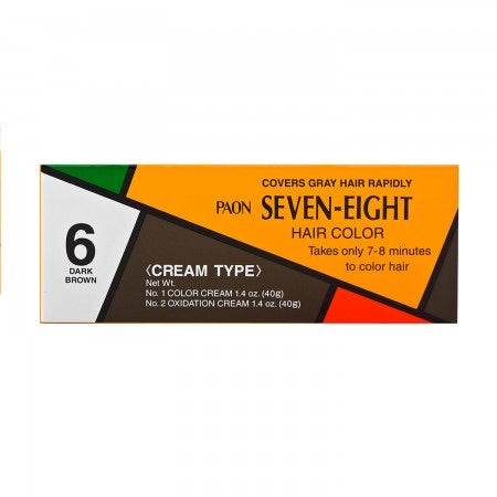 Paon Seven-Eight Hair Color No. 6 Dark Brown